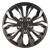 "Pilot Automotive WH555-15GM-B Performance 15"" Wheel Cover, Gunmetal Finish, (Pack of 4)"