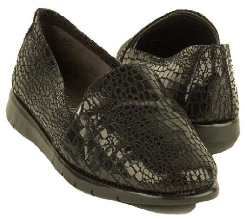 Aerosoles Women's Army Loafer,Black Snake,8.5 M US