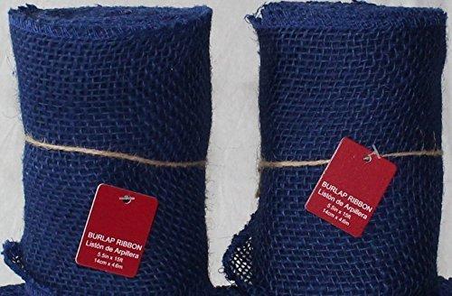burlap fabric blue - 3