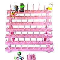 PeavyTailor Sewing Thread Rack Sewing Cone Storage Organizer Embroidery Thread Organizer - Pink