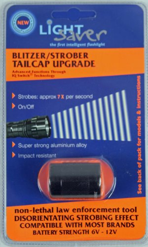 Light Saver Blitzer Strobe Tailcap for SureFire Flashlights/Torches Designed for 6P, C2, G2, G2Z, Z2 Models (G2z Flashlight)