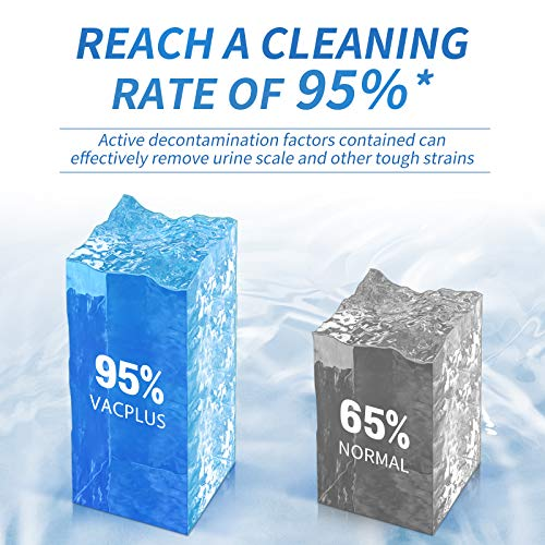 Vacplus Automatic Toilet Bowl Cleaner Tablets(12 Pack), Bathroom Toilet Tank Cleaner, Toilet Blue & White Clean Bubbles, Long-lasting, Fresh Smell, No Pungent Odor