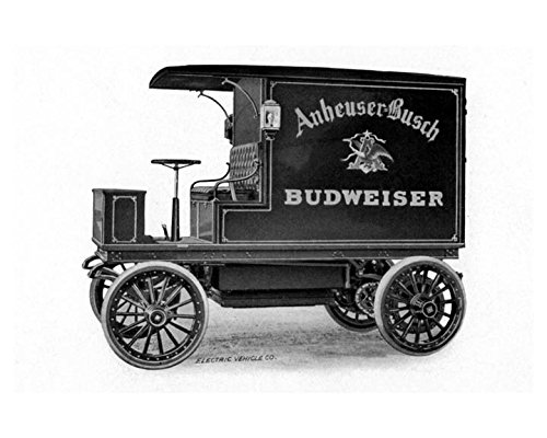1906 Columbia Electric Truck Photo Anheuser Busch Budweiser from AutoLit