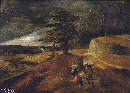 Oil Painting 'Anonymous Paisaje Y Patibulo 17 Century ' Printing On High Quality Polyster Canvas , 24 X 33 Inch / 61 X 85 Cm ,the Best Gym Decoration And (Roger The Alien Halloween Costume)