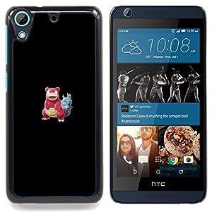 "Qstar Arte & diseño plástico duro Fundas Cover Cubre Hard Case Cover para HTC Desire 626 (Meter monstruo rojo cangrejo"")"