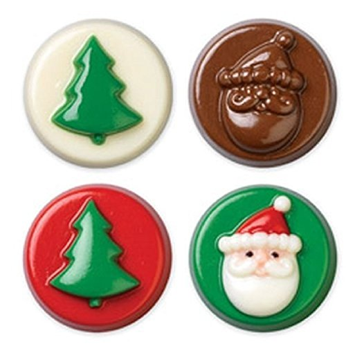Christmas Jolly Fun Cookie Candy Mold Holiday Tree Santa (1359)