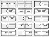 Best Pattern Wallets - 13x New Clear Acrylic Wallet Pattern Stencil Template Review