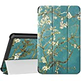 MoKo Case for Samsung Galaxy Tab A 8.0 2018 SM-T387, Ultra Lightweight Slim-Shell Stand Cover Case Compatible for Galaxy Tab A 8.0 Inch 2018 Release Tablet - Almond Blossom