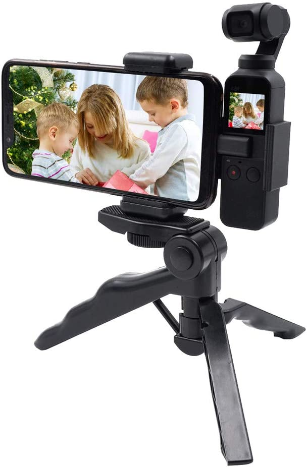 Gimbal Tripod Fixed Bracket Expansion Accessories Dacorda Mobile Phone Clip Compatible with DJI Osmo Pocket Handheld Gimbal Camera Easy Installation Phone Holder Mount Bracket Extended