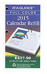 AT-A-GLANCE Daily Photographic Desk Calendar Refill 2015, 3.25 x 6.25 Inch Page Size, Black (G232-00)