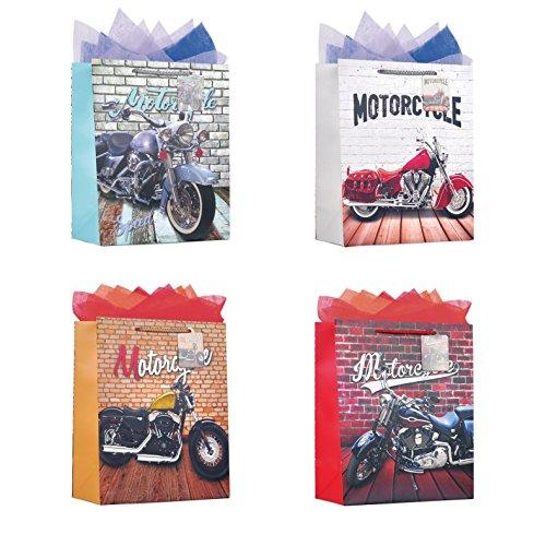 The Wrap It - Bolsa de papel metálico para fiestas, regalo, bolsa de papel con asa de cuerda, diseño para fiesta, día de...