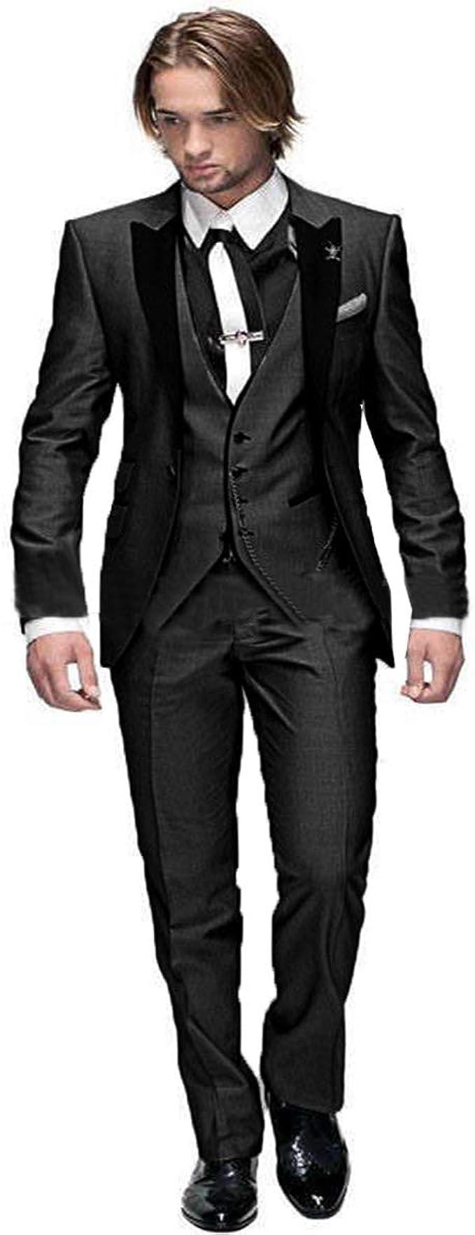 Amazon.com: RONGKIM - Traje de boda para hombre, ajuste ...