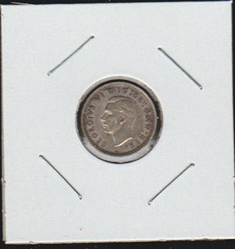 1941 UK Classic Head Left Threepence Choice About Uncirculated Details