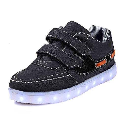 7139c0be2f4d5a SAGUARO® Mädchen Jungen Leuchtschuhe 7 Farben Kinderschuhe USB Aufladen LED  Schuhe Leuchtende Blinkschuhe Licht Turnschuhe