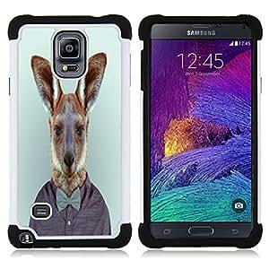 /Skull Market/ - Funny Kidding Pattern Art Cartoon Cute For Samsung Galaxy Note 4 SM-N910 N910 - 3in1 h????brido prueba de choques de impacto resistente goma Combo pesada cubierta de la caja protec -