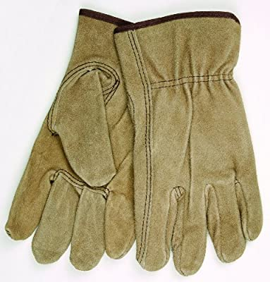 MCR Safety 3110XL Premium Grade Cow Split Leather Driver Unlined Men's Gloves with Keystone Thumb, Brown, X-Large, 1-Pair by MCR Safety