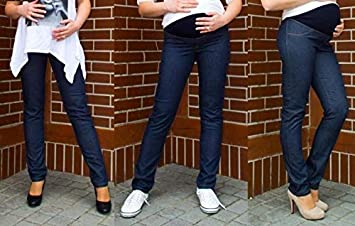 bdb95fc3f9476 Maternity skinny jeans with over bump panel made in EU - M L XL XXL 12 14