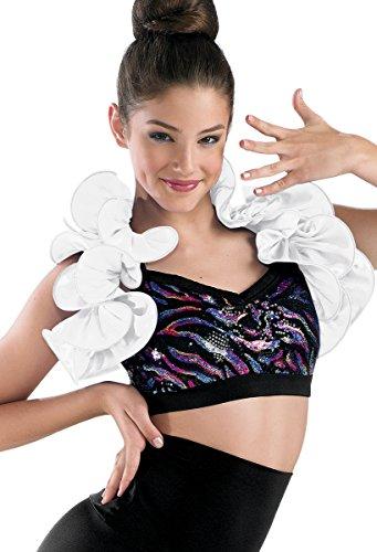 Balera Dance Costume Satin Ruffle Shrug ()
