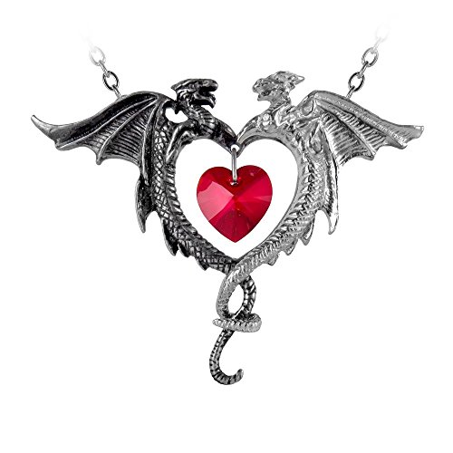 Coeur Heart - Womens Coeur Sauvage Heart And Dragons Pewter Pendant Necklace