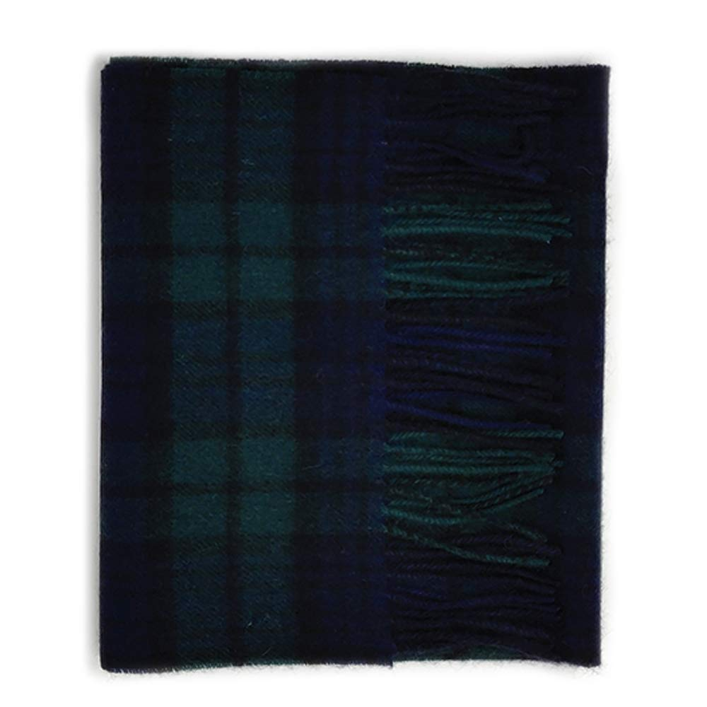 Kiltane of Scotland 100% Lambswool Ultra Soft Touch Tartan Scarf- Designed in Scotland (700-Black Watch)