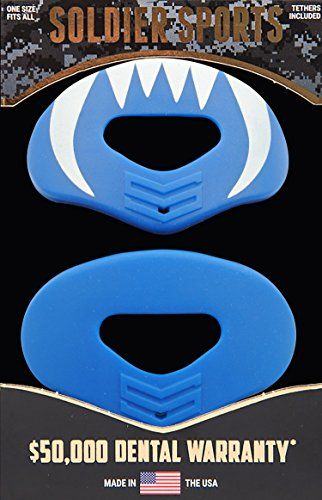 Soldier Sports Elite Air Lip Protector Royal Blue, One Size by Soldier Sports