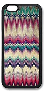 iPhone 6 Cases, Personalized Custom Soft Black Edge Case Cover for New iPhone 6 4.7 inch Wave Pattern