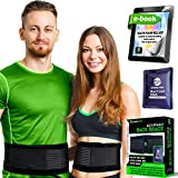Lower Back Brace for Men and Women - Lumbar Support Back Braces for Lower Back Pain, Office Chair or Car – Unisex Back Belt for Lifting, Sports or Therapy (S/M)