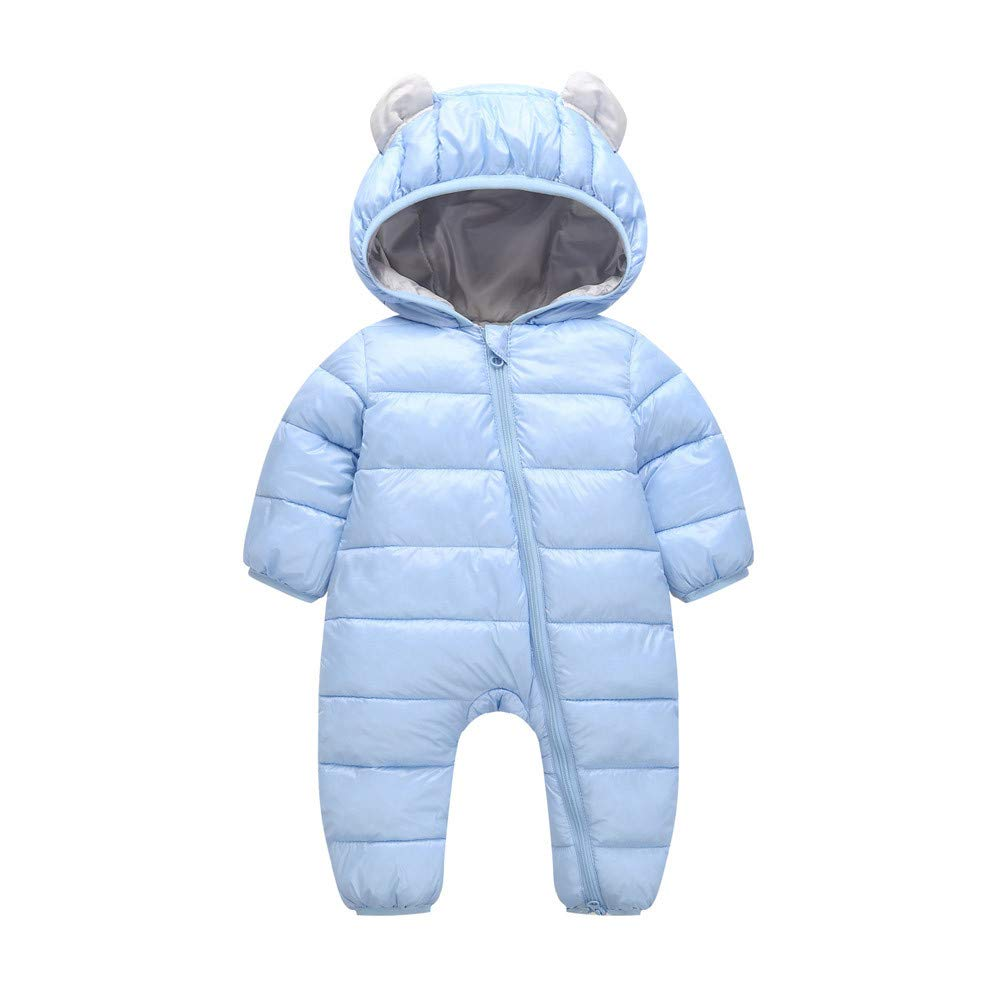 Infant Baby Hoodies Long Sleeve Zipper Romper Cotton Warm Winter Jumpsuit MODOQO