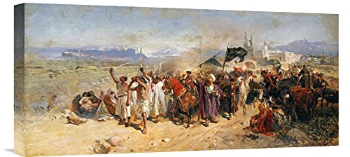 Global Gallery GCS-265497-22-142 ''Nikolai Semenovich Samokish Shi'Ite Muslims Commemorating The Martyrdom Of Hussein'' Gallery Wrap Giclee on Canvas Print Wall Art by Global Gallery