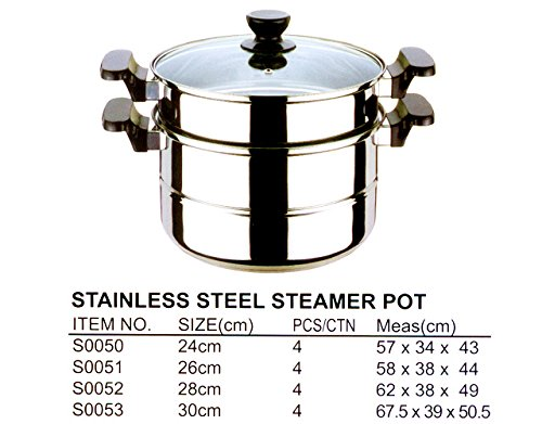 30CM STEAMER POT, Case Pack of 4