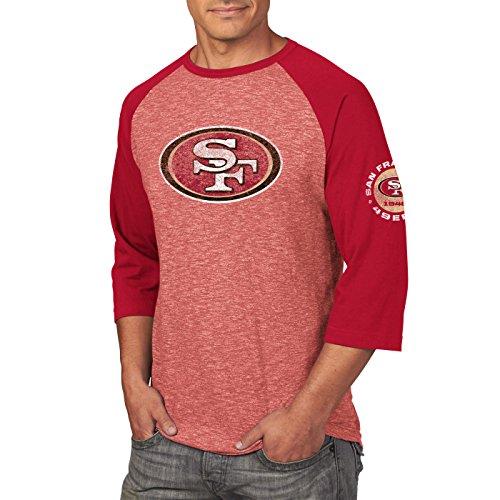 Majestic San Francisco 49ers Majestic Men's Move Raglan Shirt Medium - Majestic Logo Ringer Tee