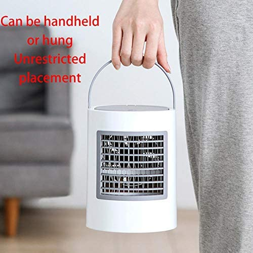 Dire-wolves - Refrigerador de Aire mínimo, purificador de Aire, humidificador portátil, USB refrigerador de Aire Recargable, Aire Acondicionado multifunción Regulable a 3 velocidades: Amazon.es: Hogar