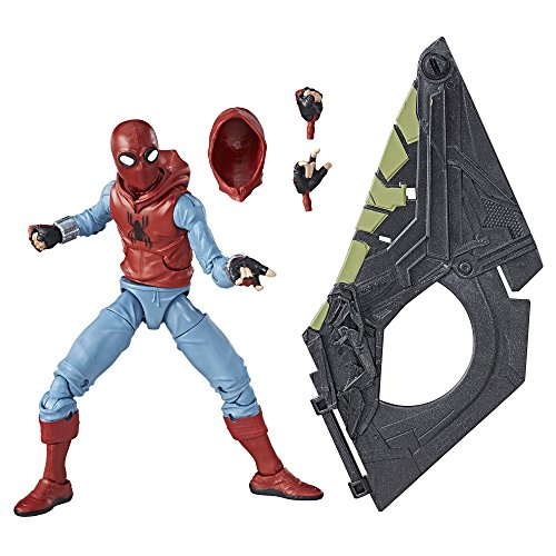 Marvel Legends Spider-Man Homecoming film Spider-Man (Homemade Costume) Action Figure (Build Vautour de Flight Gear), 15,2cm