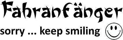 Aufkleber Fahranfänger Sorry Keep Smiling 70 X 190 Mm Schneller Versand Innerhalb 24 Stunden Auto