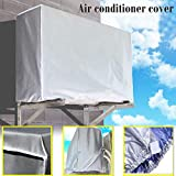 Alisy Air Conditioner Cover, Heavy Duty Large Universal Air Conditioner Cleaning Dust Washing Cover Clean Waterproof Protector, 94x40x73cm