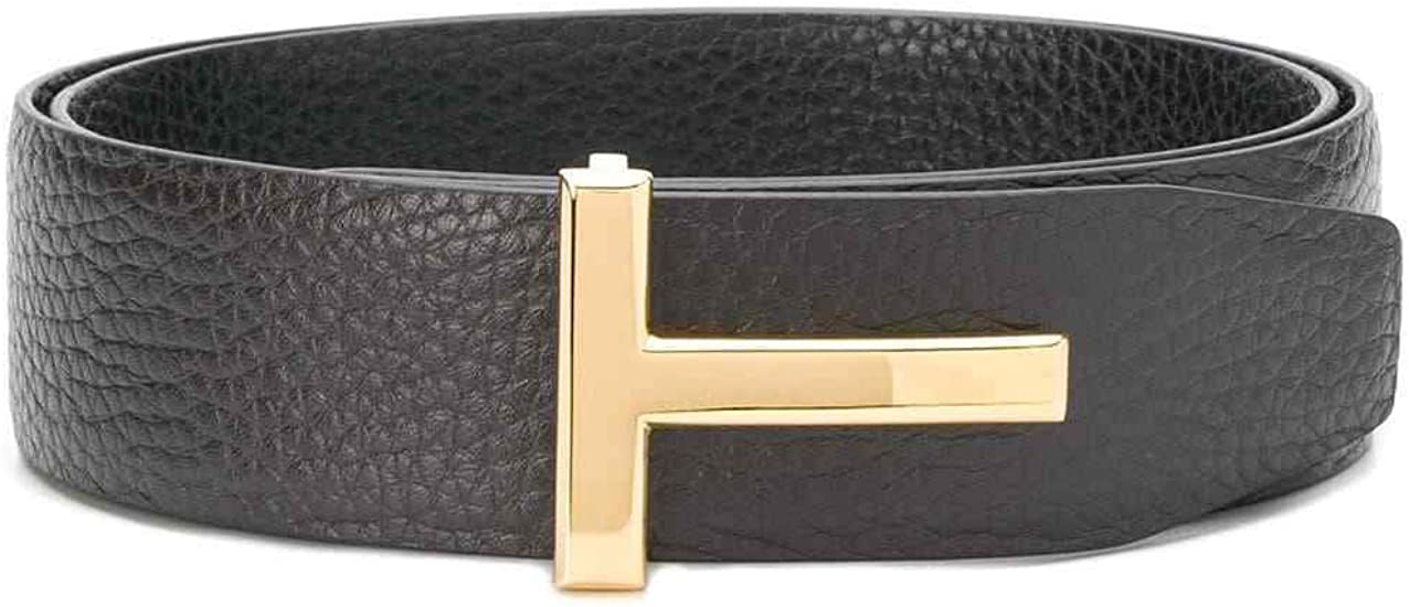 Tom Ford Signature T Buckle Reversible Black Brown 3cm Icon Belt At Amazon Men S Clothing Store