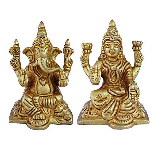 lakshmi-and-ganesha-pair-of-brass-metal-yellow