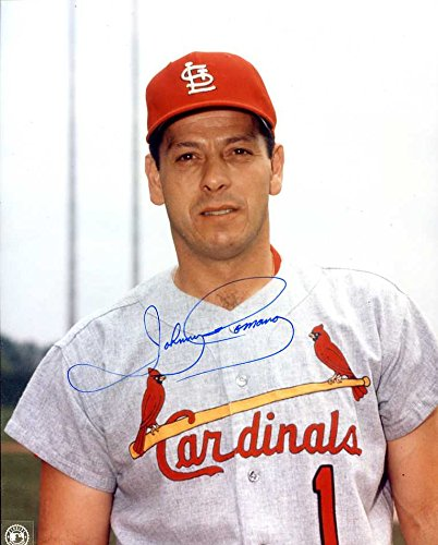 (Johnny Romano Autographed /Original Signed 8x10 Photo Showing Him w/ the St.Louis Cardinals 1967)