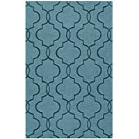 Surya Mystique M-5181 Transitional Hand Loomed 100% Wool Slate Blue 2'6' x 8' Runner