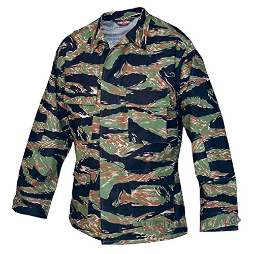 Tru-Spec BDU Coat Cotton Tiger Stripe Green S-Long 1590023 ()