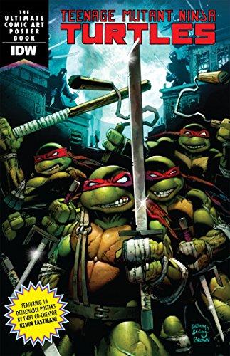 Teenage Mutant Ninja Turtles Comic Art Poster Book (Book Turtle Comic Toys Ninja)