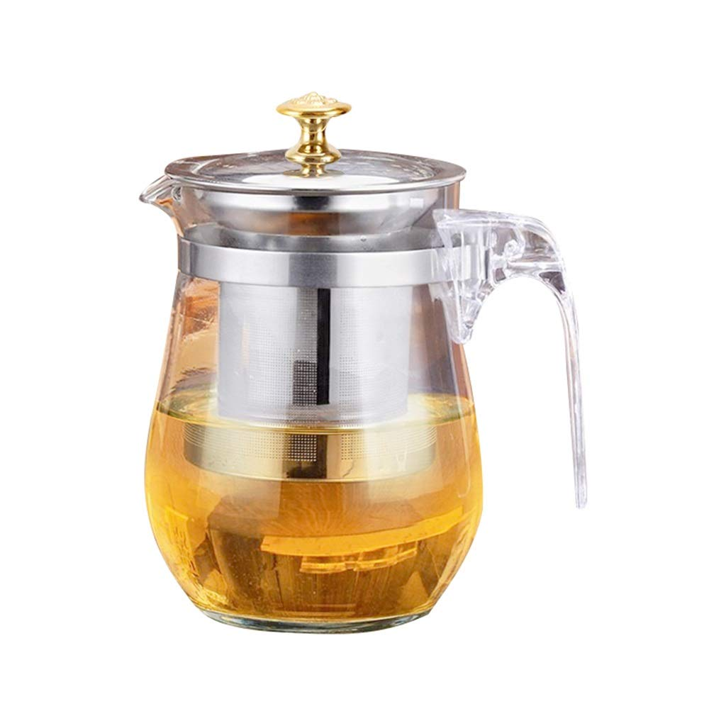Teapot portable glass kettle full washable filter household tea set tea shop office tea cup CHAJU (Size : 750ml) by CHAJU
