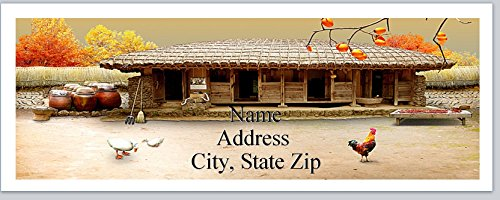 Labels Chicken Address (120 Personalized Address labels Quaint Country Farm Cottage Chickens Ducks (P 533))