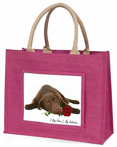 Advanta vad-l54rblp personalisedany Formulierung Große Einkaufstasche/Weihnachtsgeschenk, Jute, pink, 42x 34,5x 2cm