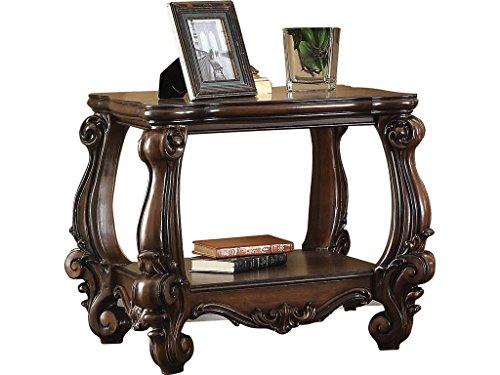 Major-Q 9082121 European Cherry Oak Finish Woodent Top Antique End Table