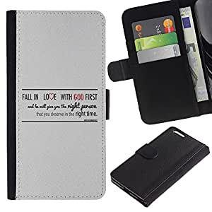 BearCase / Cuero de la tarjeta la carpeta del tirón Smartphone Slots Protección Holder /// Apple Iphone 6 PLUS 5.5 /// BIBLIA enamorarse de Dios