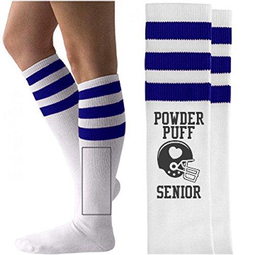 Senior Powderpuff Ball: Unisex Striped Knee-High Socks (Powder Puff Football)