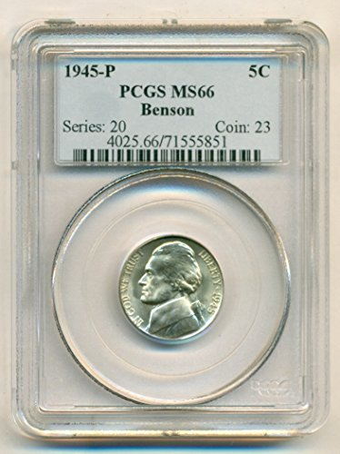 1945 P Jefferson Silver Nickel MS66 PCGS