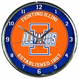 WinCraft NCAA Illinois Fighting Illini Chrome Clock