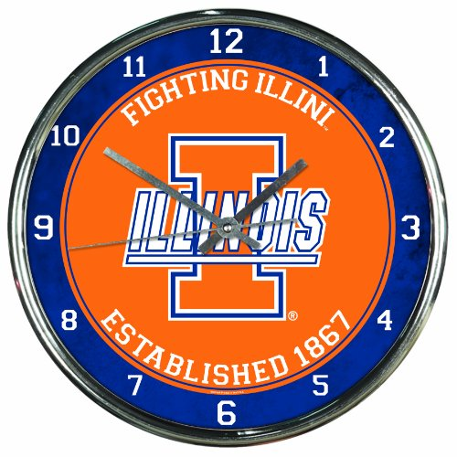 Illinois Chrome Clock - 4